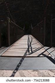 Suspension bridge in Spain,Albarracin