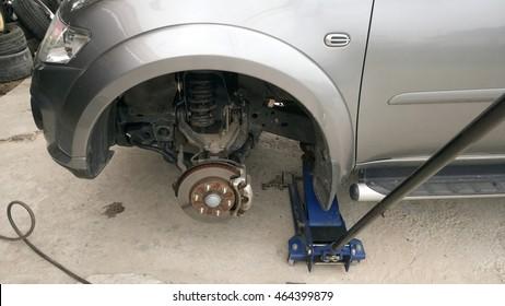 Suspension car crash