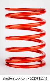 suspension red springs on a white background