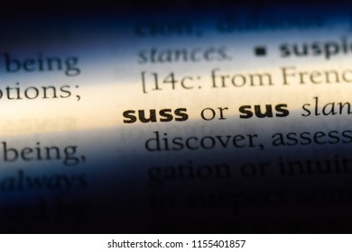 suss word in a dictionary. suss concept. - Shutterstock ID 1155401857