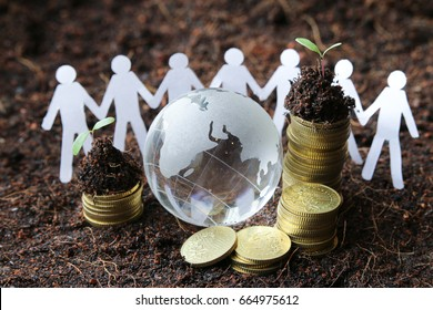 Sustainability concept with people, planet and profit