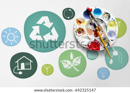 Sustainability Ecology Save Environment Concept Stock Photo