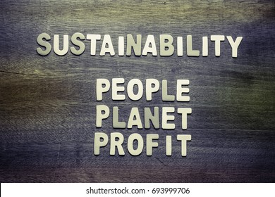 Sustainability and People, Planet, Profit for sustainable development business concept