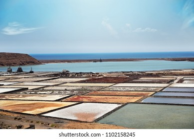 sustainable saltwork in canary island