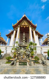 Suthat temple in bangkok province.
