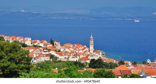 Sutivan town on Brac island, Croatia