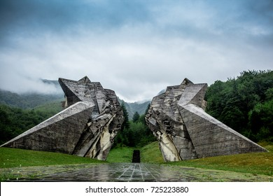 Sutjeska National Park, Bosnia and Herzegovina The World War II monument in Sutjeska National Park, Bosnia and Herzegovina