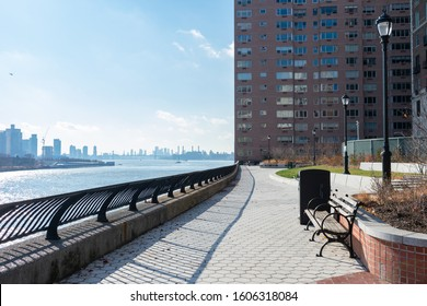 Sutton Place Park along the East River in Midtown Manhattan of New York City