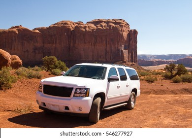 the SUV offroad vehicle at the Monument valley