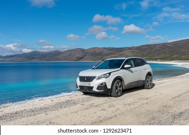 The SUV Peugeot 3008 in the highland.