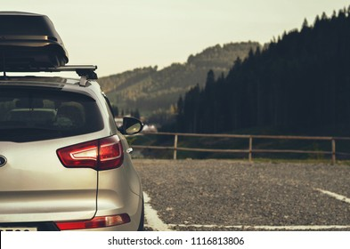 SUV with roof rack