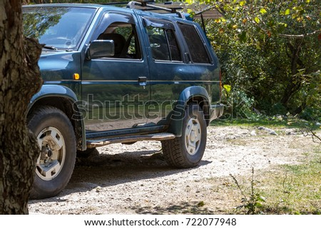 SUV stands on a
