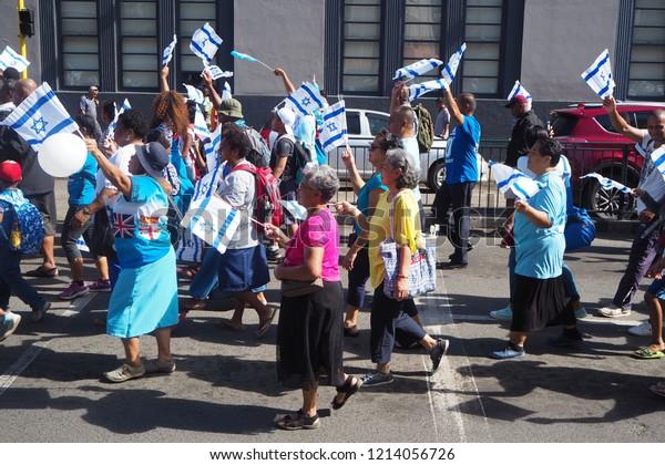 Suva Fiji May 11 2018 March People Religion Stock Image