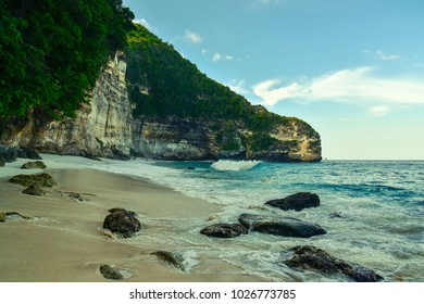 Suwehan beach at Nusa Penida island. Bali, Indonesia