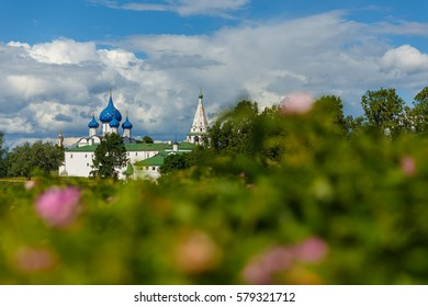 Suzdal, Golden ring of Russia. Picturesque landscape with view of the Suzdal Kremlin.