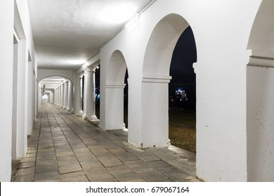 Suzdal in the Golden Ring of Russia. Shopping arcade