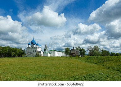 Suzdal Kremlin in summer day