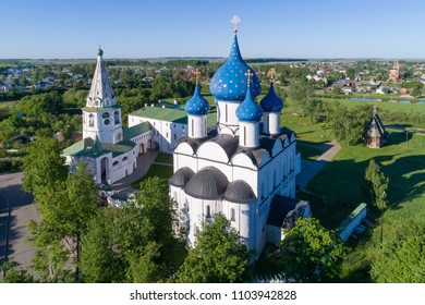 Suzdal, Russia. Aerial view of the architectural complex of the Suzdal Kremlin included in the UNESCO World Heritage List.