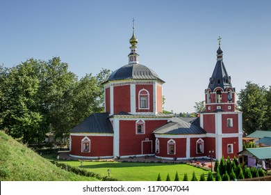 Suzdal, Russia - Aug 25, 2018: Assumption Church, is a church in  eastern part of Suzdal Kremlin supposedly built in 17th century