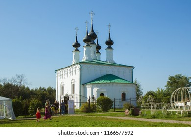 Suzdal, Russia - Aug 26, 2018: The church of the entrance to Jerusalem, one of the many temples of Suzdal