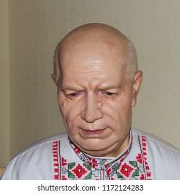 Suzdal, Russia - Aug 26, 2018: Former leader of the Soviet Union Nikita Khrushchev. Wax Museum in Suzdal