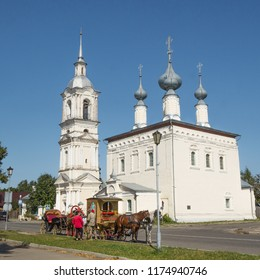 Suzdal, Russia - Aug 26, 2018: Smolensk church, one of the monuments of architecture of ancient Suzdal
