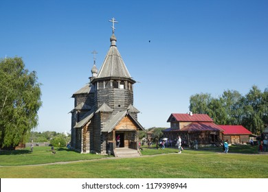 Suzdal, Russia - Aug 26, 2018: Tourists near Church of the Resurrection built in 1776. Suzdal. Russia.