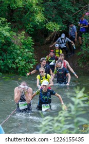 Suzdal, Russia - July 22, 2018: Golden ring ultra trail.