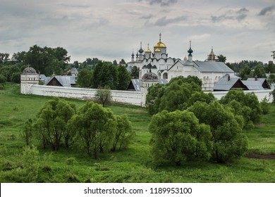 Suzdal, Russia - May 28, 2013: Pokrovsky women's monastery in Suzdal. Many travelers who come to the ancient Russian city, try to get to the territory of this monastery