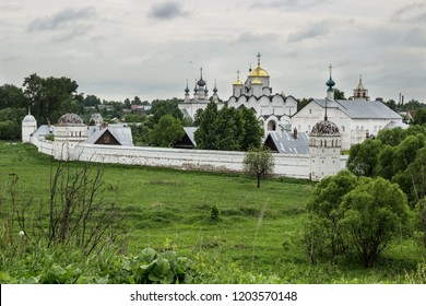 Suzdal, Russia - May 28, 2013: Pokrovsky women's monastery in Suzdal. Many travelers who come to the ancient Russian city, trying to do an inspection of this monastery