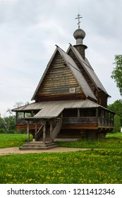 Suzdal, Russia - May 28, 2013: Nicholas Church from Suzdal, typical wooden Russian church of the eighteenth century. Date of restoration in Suzdal 1960