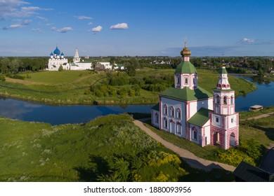 Suzdal, Russia. View of the Suzdal Kremlin from the Ilyinskaya Church.