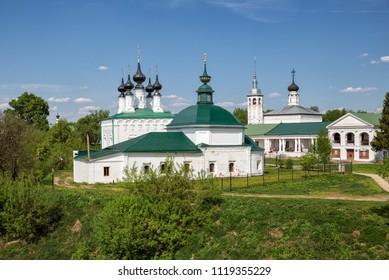 Suzdal, a temple complex in the city center, Russia