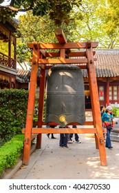 SUZHOU, CHINA - APR 1, 2016: Bao'en Temple complex in Suzhou, Jiangsu Province, China. One of the Buddha temples in China