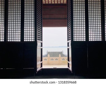 SUZHOU, CHINA, DECEMBER 30, 2018: the Chongyuan Temple is a Liang Dynasty Buddhist temple located along Yangcheng Lake at Suzhou Industrial Park, Suzhou, China.