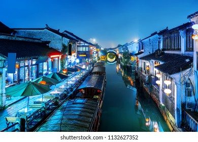 Suzhou, China is a famous water town with many ancient towns in the south of the Yangtze River.