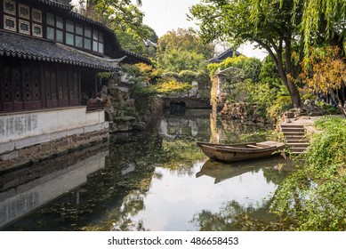 Suzhou, China - October 23,2016: The Humble Administrator's Garden, a Chinese garden in Suzhou, a UNESCO World Heritage Site.