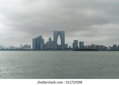 Suzhou,China - Oct. 2016 - Suzhou Cityscape, Suzhou is a fast developing city in East China.