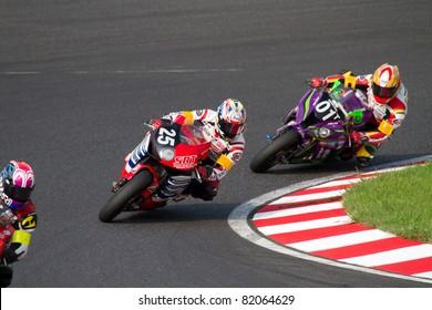 SUZUKA, JAPAN - JULY 31 : Rider of Honda SuzukaRacing Team (13th place team) racing at 2011 Suzuka 8 hours World Endurance Championship Race, on July 31, 2011 in Suzuka Circuit, Japan.
