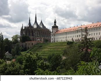 Sv. Barbara's Church & Jesuit College, Kutna Hora - Shutterstock ID 687123943