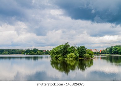 Svet fish pond and Trebon town, Czech Republic