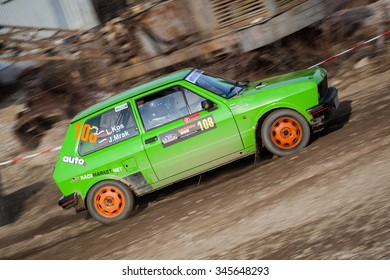 SVETA NEDELJA, CROATIA - NOVEMBER 29, 2015. 6th Rally Show Santa Domenica. Jan Mrak / Luka Kos / Zastava Yugo / SPRINT (108)