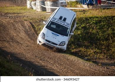 SVETA NEDELJA, CROATIA - NOVEMBER 29, 2015. 6th Rally Show Santa Domenica. Luka Latinovic / TBA / Ford Fiesta ST / PRO SPORT (68)
