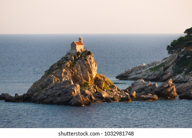 Sveta Nedelja is an islet on the Adriatic Sea, in Montenegrin municipality of Budva. It is located opposite the town of Petrovac na Moru in Montenegro.  It has a small church on it.
