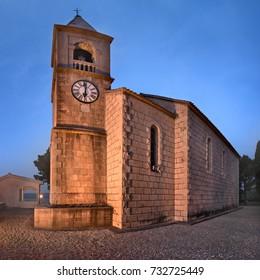 Sveti Roko Church near Omis in the Morning, Dalmatia, Croatia
