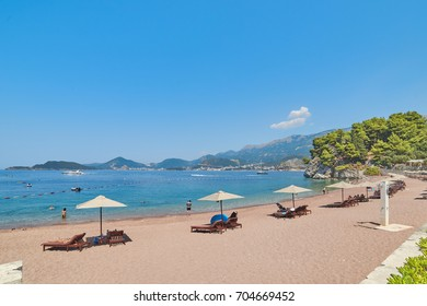 Sveti Stefan beach, Budva,  Montenegro