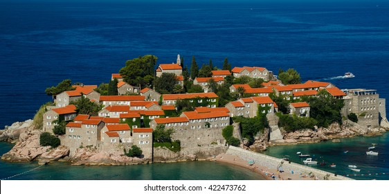 Sveti Stefan island in Budva, Montenegro, Balkans