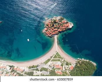 Sveti Stefan island in Budva, Montenegro
