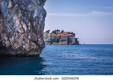 Sveti Stefan island on Adriatic Sea in Montenegro