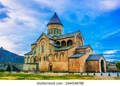 Svetitskhoveli Cathedral in the historic town of Mtskheta, Georgia